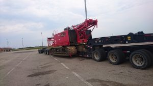 crane getting hauled from Alberta to ontario