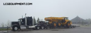 1 of 4 Volvo A 40E Rock Trucks we are heavy hauling