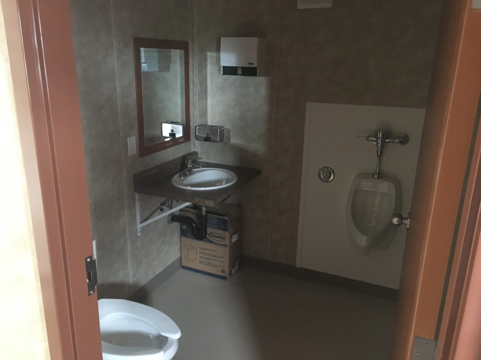 office trailer bathroom