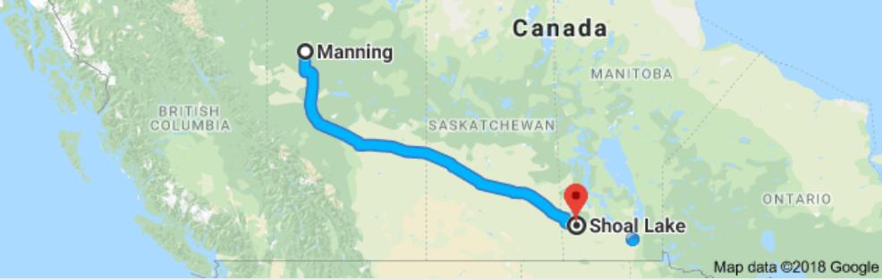 Manning, Alberta to Shoal Lake, Manitoba