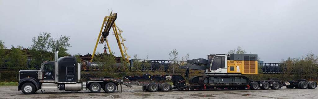 how to haul a Liebherr LRB355 Drill Rig